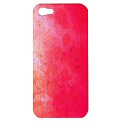 Abstract Red And Gold Ink Blot Gradient Apple Iphone 5 Hardshell Case