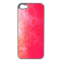Abstract Red And Gold Ink Blot Gradient Apple Iphone 5 Case (silver)