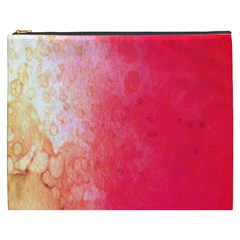 Abstract Red And Gold Ink Blot Gradient Cosmetic Bag (xxxl)