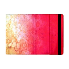 Abstract Red And Gold Ink Blot Gradient Apple iPad Mini Flip Case