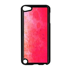 Abstract Red And Gold Ink Blot Gradient Apple iPod Touch 5 Case (Black)