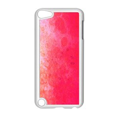 Abstract Red And Gold Ink Blot Gradient Apple Ipod Touch 5 Case (white)