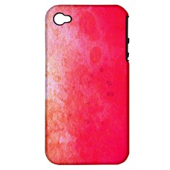 Abstract Red And Gold Ink Blot Gradient Apple iPhone 4/4S Hardshell Case (PC+Silicone)