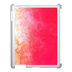Abstract Red And Gold Ink Blot Gradient Apple Ipad 3/4 Case (white)