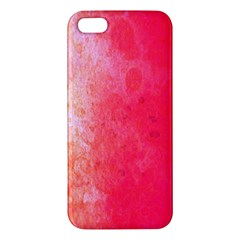 Abstract Red And Gold Ink Blot Gradient Apple iPhone 5 Premium Hardshell Case