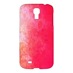 Abstract Red And Gold Ink Blot Gradient Samsung Galaxy S4 I9500/I9505 Hardshell Case