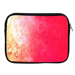 Abstract Red And Gold Ink Blot Gradient Apple Ipad 2/3/4 Zipper Cases