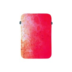 Abstract Red And Gold Ink Blot Gradient Apple Ipad Mini Protective Soft Cases