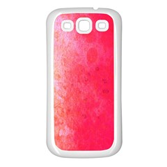Abstract Red And Gold Ink Blot Gradient Samsung Galaxy S3 Back Case (white)