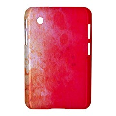 Abstract Red And Gold Ink Blot Gradient Samsung Galaxy Tab 2 (7 ) P3100 Hardshell Case