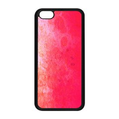 Abstract Red And Gold Ink Blot Gradient Apple iPhone 5C Seamless Case (Black)