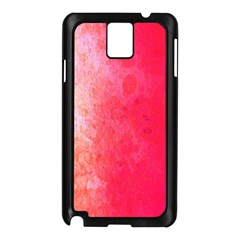 Abstract Red And Gold Ink Blot Gradient Samsung Galaxy Note 3 N9005 Case (black)