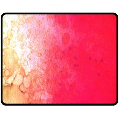 Abstract Red And Gold Ink Blot Gradient Double Sided Fleece Blanket (medium)