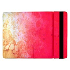 Abstract Red And Gold Ink Blot Gradient Samsung Galaxy Tab Pro 12 2  Flip Case