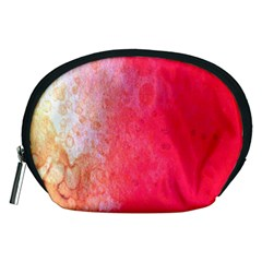 Abstract Red And Gold Ink Blot Gradient Accessory Pouches (medium)
