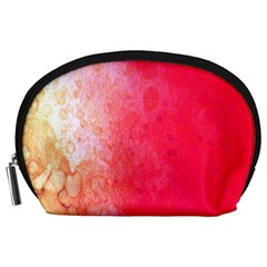 Abstract Red And Gold Ink Blot Gradient Accessory Pouches (Large)