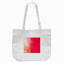 Abstract Red And Gold Ink Blot Gradient Tote Bag (white)