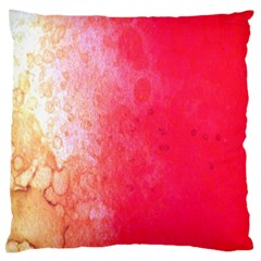Abstract Red And Gold Ink Blot Gradient Large Flano Cushion Case (two Sides)