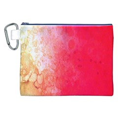 Abstract Red And Gold Ink Blot Gradient Canvas Cosmetic Bag (XXL)