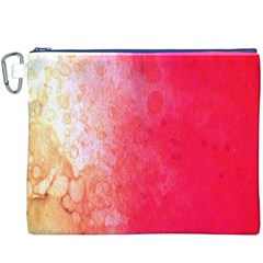 Abstract Red And Gold Ink Blot Gradient Canvas Cosmetic Bag (XXXL)