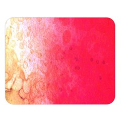 Abstract Red And Gold Ink Blot Gradient Double Sided Flano Blanket (Large)