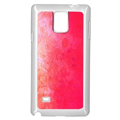 Abstract Red And Gold Ink Blot Gradient Samsung Galaxy Note 4 Case (White)