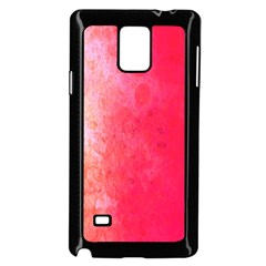 Abstract Red And Gold Ink Blot Gradient Samsung Galaxy Note 4 Case (Black)