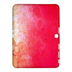 Abstract Red And Gold Ink Blot Gradient Samsung Galaxy Tab 4 (10 1 ) Hardshell Case