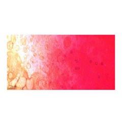 Abstract Red And Gold Ink Blot Gradient Satin Wrap