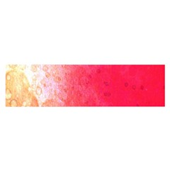 Abstract Red And Gold Ink Blot Gradient Satin Scarf (Oblong)