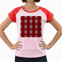 Geometric Seamless Pattern Digital Computer Graphic Wallpaper Women s Cap Sleeve T-Shirt