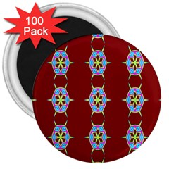 Geometric Seamless Pattern Digital Computer Graphic Wallpaper 3  Magnets (100 pack)