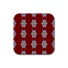 Geometric Seamless Pattern Digital Computer Graphic Wallpaper Rubber Square Coaster (4 pack)