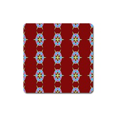 Geometric Seamless Pattern Digital Computer Graphic Wallpaper Square Magnet