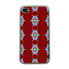 Geometric Seamless Pattern Digital Computer Graphic Wallpaper Apple iPhone 4 Case (Clear)