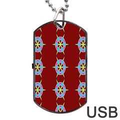 Geometric Seamless Pattern Digital Computer Graphic Wallpaper Dog Tag Usb Flash (one Side)