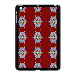 Geometric Seamless Pattern Digital Computer Graphic Wallpaper Apple iPad Mini Case (Black)