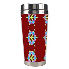 Geometric Seamless Pattern Digital Computer Graphic Wallpaper Stainless Steel Travel Tumblers