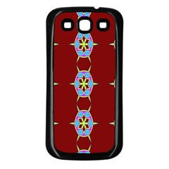 Geometric Seamless Pattern Digital Computer Graphic Wallpaper Samsung Galaxy S3 Back Case (Black)