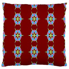 Geometric Seamless Pattern Digital Computer Graphic Wallpaper Large Flano Cushion Case (Two Sides)