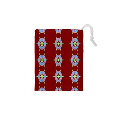 Geometric Seamless Pattern Digital Computer Graphic Wallpaper Drawstring Pouches (XS)