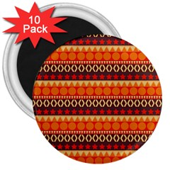 Abstract Lines Seamless Pattern 3  Magnets (10 pack)