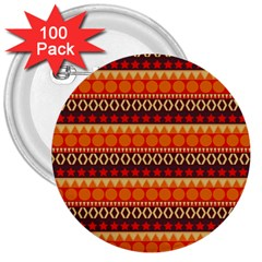 Abstract Lines Seamless Pattern 3  Buttons (100 pack)