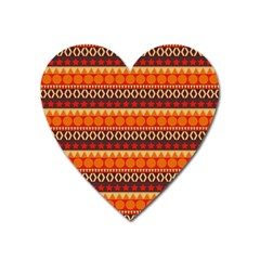 Abstract Lines Seamless Pattern Heart Magnet