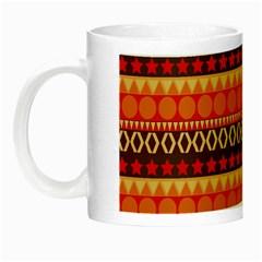 Abstract Lines Seamless Pattern Night Luminous Mugs
