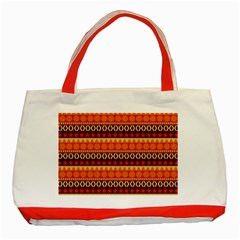 Abstract Lines Seamless Pattern Classic Tote Bag (red)