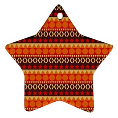 Abstract Lines Seamless Pattern Star Ornament (Two Sides)