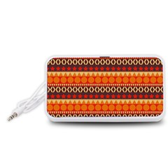 Abstract Lines Seamless Pattern Portable Speaker (White)