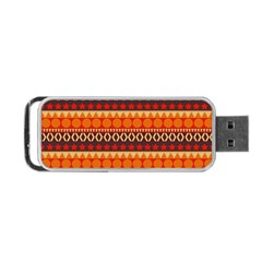 Abstract Lines Seamless Pattern Portable Usb Flash (two Sides)