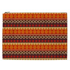 Abstract Lines Seamless Pattern Cosmetic Bag (xxl)